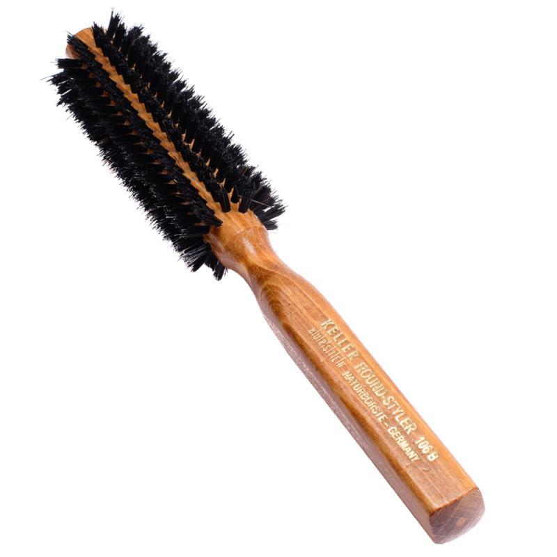 Perie rotundă pentru coafarea părului cu peri din par de porc mistret avand diametrul de 35mm